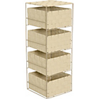 more details on ColourMatch 4 Drawer Storage Unit - Cream.