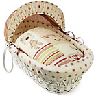 more details on Clair de Lune White Wicker Moses Basket - Little Bear.