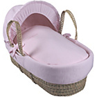 more details on Clair de Lune Cotton Candy Palm Moses Basket - Pink.