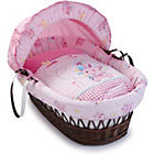 more details on Clair de Lune Dark Wicker Moses Basket - Lottie and Squeek.