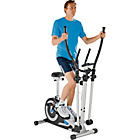 Roger Black Silver Magnetic Cross Trainer and Exercise Bike