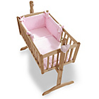 more details on Clair de Lune Marshmallow 2 Piece Rocking Crib Set - Pink.