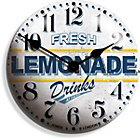 more details on Jones Lemonade Convex Clock 30cm.