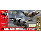 more details on Airfix Dogfight Doubles A4 Skyhawk and Sea Harrier Model Kit