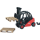 more details on Bruder 02511 Linde Forklift with Tow Coupling and 2 Pallets.