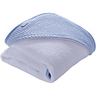 more details on Clair de Lune Waffle Hooded Towel - Blue.