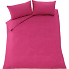 more details on Heart of House Raspberry Pink Non Iron Bedding Set - Double.