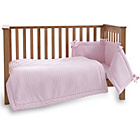 more details on Clair de Lune Marshmallow 3 Piece Cot/Cot Bed Set - Pink.