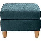 more details on Heart of House Colby Fabric Footstool - Teal.