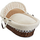 more details on Clair de Lune Honeycomb Dark Wicker Moses Basket - Cream.