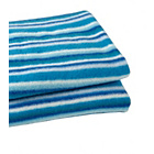 more details on Clair de Lune Fun and Funky Pram Blanket - Sherbet Blue.