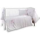 more details on Clair de Lune Stardust 3 Piece Cot/Cot Bed Set - Pink Trim.