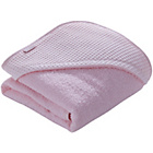more details on Clair de Lune Waffle Hooded Towel - Pink.