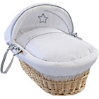 more details on Clair de Lune Silver Lining Wicker Moses Basket - Natural.