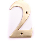 more details on House Nameplate Company Brass Number Plaque - 2.
