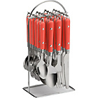 more details on ColourMatch 24 Piece Hanging Cutlery Set - Coral Crush.
