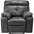 more details on HOME Cameron Leather Manual Recliner Chair - Black.