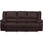 more details on Bruno Large Leather Effect Recliner Sofa - Chocolate.