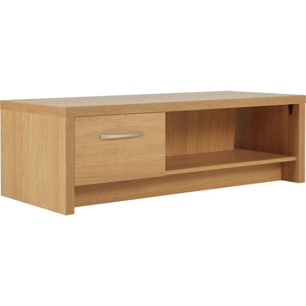 Buy collection venice 1 drawer coffee table tv unit oak for Coffee table uk online