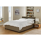 more details on Hygena Sheridan Small Double Ottoman Bed Frame - Latte.