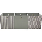 more details on Set of 3 Storage Boxes - Grey Geo.