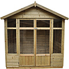 more details on Forest Bloxham Wooden Summerhouse - 7 x 5ft.