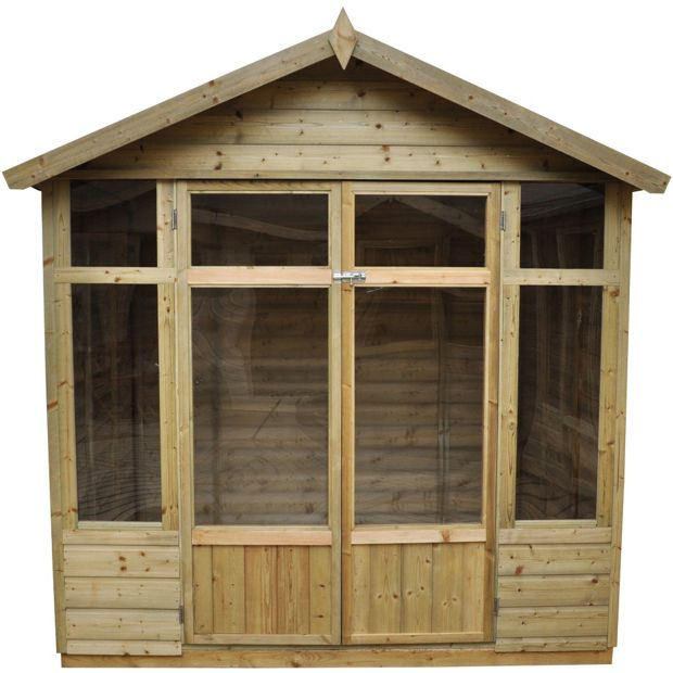 buy forest bloxham wooden summerhouse 7 x 5ft at argos. Black Bedroom Furniture Sets. Home Design Ideas