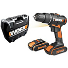 more details on Worx 20V Hammer Drill with 2 Lithium-Ion Batteries.