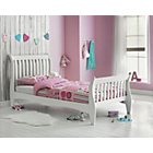 more details on Daisy Sleigh White Single Bed Frame with Ashley Mattress.