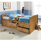 more details on Finn 6 Drawer Pine Cabin Bed with Ashley Mattress.