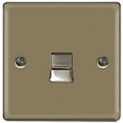 more details on Masterplug Single Master Telephone Socket - Pearl Nickel.