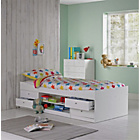 more details on Malibu White Cabin Bed with Ashley Mattress.