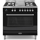 more details on Britannia RC-9SG-QL-K 90cm Dual Fuel Range Cooker - Black.