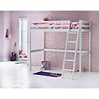 more details on White Wooden High Sleeper Bed with Ashley Mattress.