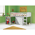 more details on Kelsey White Mid Sleeper/Desk/Chest with Ashley Mattress.