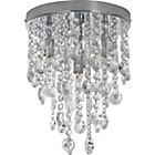 more details on Heart of House Cristallo 4 Light Ceiling Fitting - Chrome.