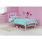 more details on Hearts Single Bed Frame - Pink.
