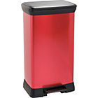more details on ColourMatch 50L Pedal Bin - Poppy Red.