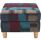 more details on Heart of House Colby Fabric Footstool - Dark Patterned.