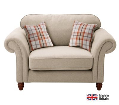 Buy Heart Of House Windsor 2 Seater Cuddle Chair Cream