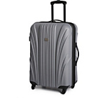 more details on Go Explore Medium 4 Wheel Suitcase - Silver.