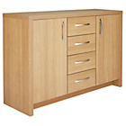 more details on Venice 2 Door 4 Drawer Sideboard - Oak Effect.
