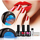 more details on Rio Fabulous Nails LED Lamp & Gel Nail Polish Kit.