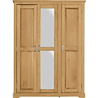 more details on Collection Pine Mendoza 3 Door Mirrored Wardrobe -Oak Stain.