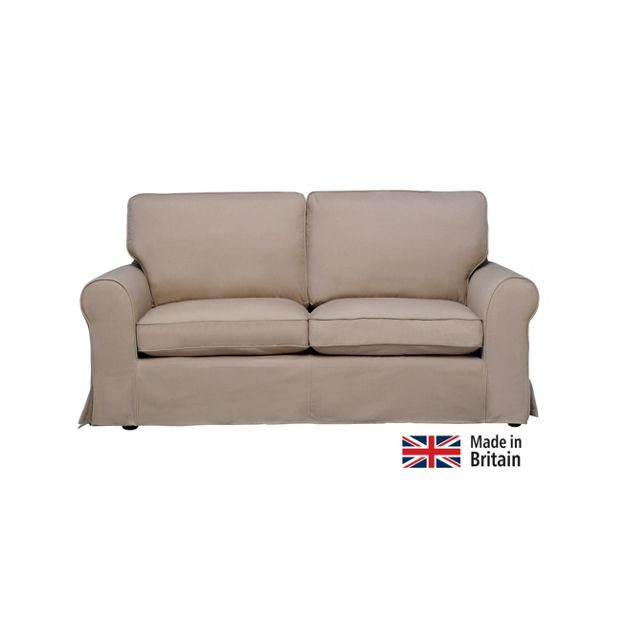 buy home charlotte large fabric sofa with loose cover