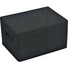 more details on Fabric Drawer - Black.