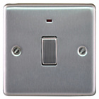 more details on Masterplug Double Pole LED Light Switch - Brushed Steel.