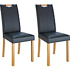 more details on Pair of Charcoal Midback Dining Chairs.