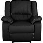 more details on HOME Bruno Leather Effect Manual Recliner Chair - Black.