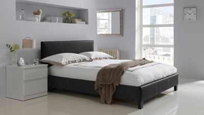 Buy Hygena Constance Double Bed Frame - Black at Argos.co ...